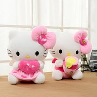 bee holds - 1pcs cm cm Holding heart Hello kitty Plush Toys Bee Kitty Stuffed animals Plush Toys for Christmas party gift