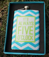 Wholesale 9oz Portable Hip Flask Covered Russia Hip flask Gifts Pocket Steel Hip Flasks Liquor Whisky Drink Flasks