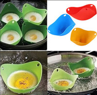 Wholesale Silicone Egg Poacher Pod Egg Boiler non toxic Egg Steamer Peach Pod egg boiler Baking Cookware Cup Pretty Silicone Egg Cooker KKA750