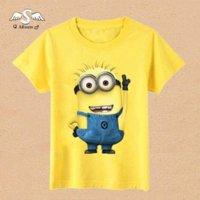 Wholesale Super Cheap Price Cartoon Children T Shirts Minions Clothes T Shirts For Girls Boys Cotton Short Sleeve Tee Shirt Garcon