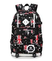 bag man british - British girls outdoor travel bag bag computer bag zipper cloth Oxford student backpack Adjustable shoulder strap Durable