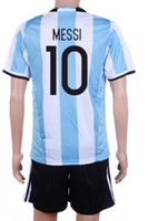 Wholesale Customized Argentina messi Soccer Jersey Sets Cheap AGUERO DYBALA uniforms cheap LAVEZZI Football Jerseys KIT
