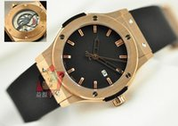 Cheap Luxury AAA Top Quality Classic Fusion 18K Rose Gold Black Dial Automatic Mechanical Men's Watch Rubber Band Mens Sports WristWatches