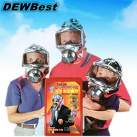 Wholesale 2015Emergency escape respirator mask disposable oxygen masks minutes fire smoke toxic gases filter large hard hats Firemask aid kit CAS I