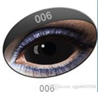 Wholesale 22mm sclera supernatural Dean Winchester devil black eye cosplay Halloween contact fresh fancy tone movie lens