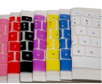 Wholesale Colorful Silicone Keyboard Cover Protector Skin for US Apple Macbook Pro MAC Air Laptop WGB with paper bag