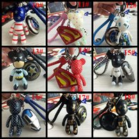 ball bearing plate - Lover Keychains fashion accessories captain america bear spiderman keychains Carabiner Keychains car key rings