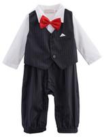 baby tuxedo onesie - Baby Boys Funny Gentleman Tuxedo Romper Onesie with Bow Tie