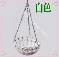 Wholesale Hanging basket of artificial flowers pot for home decor gifts