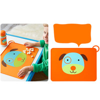 Wholesale Cartoon Animal Placemat Silicone Waterproof for Baby Feeding Placemats Non Slip Dining Table Mat Foldable and Portable Tablemats Pad Hot