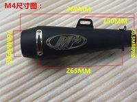 Wholesale 51mm Universal Motorcycle Exhaust M4 Yoshimura Muffler Pipe Case for Honda CBR1000 For Yamaha R6 For Kawasaki M4 Motorcycle Exhaust Muffler