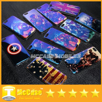 For Apple iPhone american ray - Luxury Laser Blue ray Marvel Avengers Captain American Shield Iron Man TPU Soft Cover Case for iPhone S SE S Plus