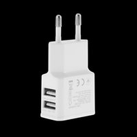 Wholesale 2A Dual Ports USB EU Tattoo Power Adapter Wall Charger Adapter for Samsung for iPhone for HTC for MOTO Perfect