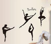 ballet film - stickers leopard New Hot models Transparent film Ballet Dance Studio Music Room Gym Wall Stickers x100 cm QT11