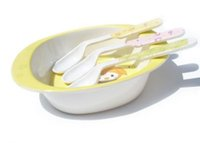 Wholesale Infant Tableware Bent Handle Easy to Grasp the Baby s Training Safe Small Spoon