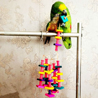 Wholesale New Colorful Parrot Macaw Cage Chew Toys Pet Bird Budgie Conure Swing Scratcher toy bird parrot bite toy bird bird toy E5M1 order lt no tra