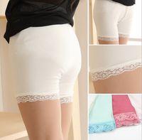 Wholesale 2016 Safty Panties for Dress Cotton Lace Girl Kids Underwear Boxers Children Girl Underwears Brief Solid Kids Clothing K8024