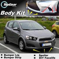 Wholesale For Chevrolet Aveo Sonic Bumper Lip Lips Front Skirt Deflector Spoiler For Car Tuning The Stig Recommend Body Kit Strip