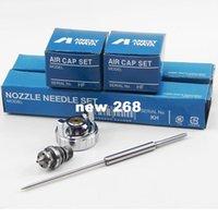 airless gun parts - high quality needle and nozzle fluid tip air cap for ANEST IWATA spray gun W71G S spray gun spare part