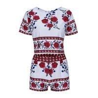 Wholesale 2016 Summer New Style Of Leisure And Comfort Classical Flower Ladies Leisure Suit Beautiful Confortable Short Eye contracting Pretty B
