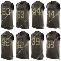 bay james - Nik Elite Green Nick Perry Bay James Starks Packers Demetri Goodson Morgan Burnett Army Green Men Football Jerseys Vest Shirts