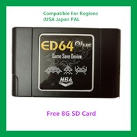 Wholesale Free G SD Card PAL NTSC N64 ED64plus Game Save Device N64 Enhanced version free Fast shipping