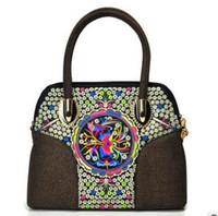 Wholesale 8 Colors Linen Shoulder Bags Embroid Small Bags Caviar Ladies Shoulder Bags Handbags Designers Bags For Women Handbag