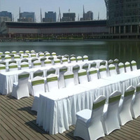 Wholesale Universal White spandex Wedding Party chair covers White spandex lycra chair cover for Wedding Party Banquet Multi Color