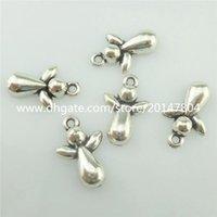 Cheap 15565*60PCS Silver Vintage Cute Mini Baby Angel Pendant Charm Alloy Antique
