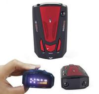 Wholesale 360 Degree Car Speed V7 Radar Detector Voice Alert Detection Shaped Safety for Car GPS Laser LED