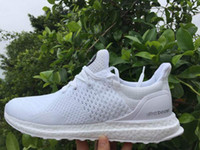 Wholesale Top quality Men Hypebeast Uncaged Ultra Boost All White Running Shoes Mens Sport Casual Shoes Sneakers Size