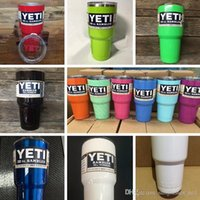 Wholesale 12 Color oz YETI Rambler Tumbler Cup Black White Red Purple Pink Blue Light Blue Orange Light Green Bilayer Vacuum Insulation Cup PPA210