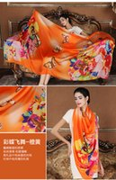 Wholesale New Design Women s Silk Scarf Pashmina cm comfortable silk scarf Wrap Shawl Elegant lady girl Autumn Winter Scarves Cappa Tippet