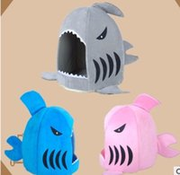 Wholesale Shark design Pet Products Warm Soft Dog House Pet Sleeping Bag Dog Kennel Cat Bed Household