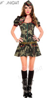 adult soldier costume - Sexy Adult Women Army Uniform Costume Halloween Sexy Party Costumes Soldier Women Dress Camouflage Color