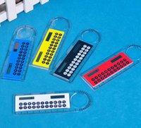Fournitures gros-Solar Magnifier Calculatrice Mode multifonction 10 cm règle ultra-mince Calculatrice Office Products Comme un cadeau