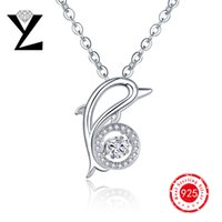 best diamond necklaces - 2016 Personalized Dolphin Sterling Silver Women Necklace Ocean Series Brand Designer Dancing CZ Diamond Pendant Best Friend Gift DP38840A