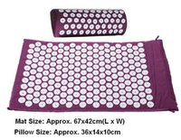 anti stress pillow - Massager appro cm Massage cushion Acupressure Mat Relieve Stress Pain Acupuncture Spike Yoga Mat with Pillow Drop shipping
