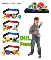 Wholesale DHL Free Poke Ball Belt Action Figures Cartoon Pikachu Set Toys Children Cosplay Poke Go Ball Telescopic Belt Set Charmander Jeni Turtle Toy