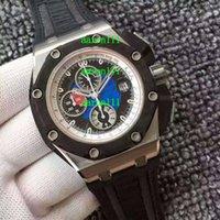 Precio de Gifts-Reloj automático mecánico de los hombres de lujo de las marcas de fábrica contemporáneas inoxidables JF cal.3126 cristal transparente de los hombres de cristal del deporte del zafiro Regalo
