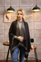 scarf material - New designer classic items european and american modal soft material double sides winter women poncho retail