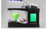 Wholesale Innovative Unique Home Decoration Mini USB Lamp Light Fish Tank Aquarium