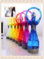 air water coolers - Handheld water spray Mini fan beauty rechargeable cooling electric water mist fan Air conditioning fan Portable fan LJJO54