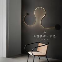 Wholesale Post modern Scandinavian minimalist creative Mordern wall lamp LED bedside bedroom aisle corridor hotel art S shaped wall light