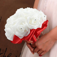 Wholesale Bride Bridesmaid Rose Artificial Hands Holding Wedding Flowers Bridal Bouquets for Party Decoration Artificial Silk Flower