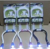 Wholesale Portable Huglight LED Flexible Light Over Neck Book Reading Hug Lamp Night Lights Book Reading Lamp KKA930