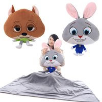 Wholesale Prettybaby hot sale style Zootopia animal style pillows blanket Judy Nick model soft bolster