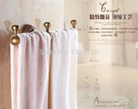 Wholesale European Style Antique Brass Bathroom Towel Holder Antique Towel Bar Wall Mount Towel Holder Bathroom Accessories