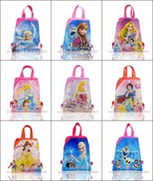 backpacks favors - 24pcs Hot Style lovely Princess cartoon Logo children school bags x27cm High Quality Backpack Kids Bags Party Gifts Favors