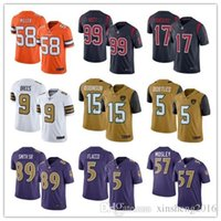 authentic jj watt jersey - 2016 New realeased Rush Football Jerseys Broncos Von Miller Texans JJ Watt Brock Osweiler purple Limited Jerseys authentic shirt